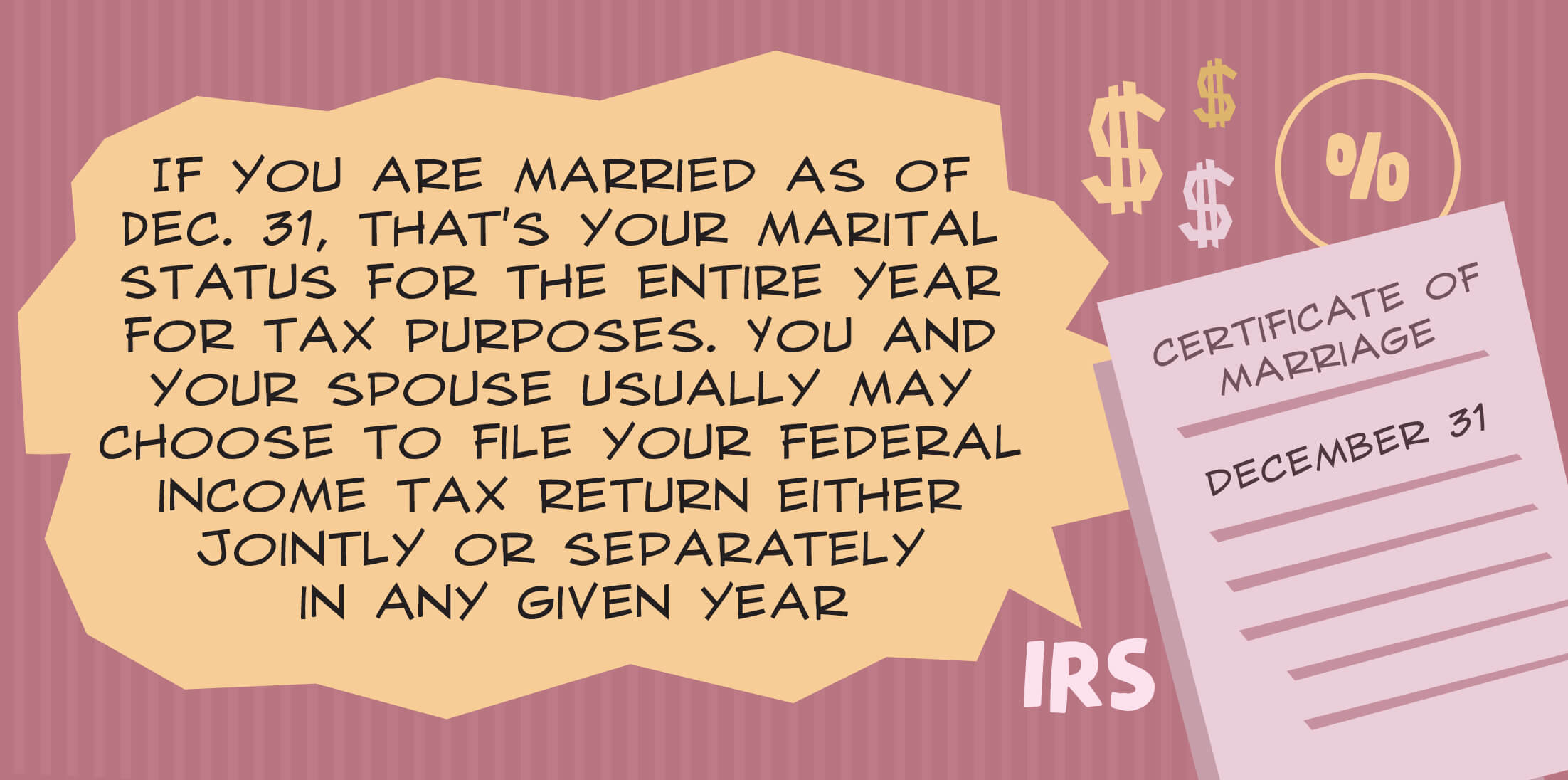 You And Your Spouse Usually May Choose To File Your Federal Income Tax  Return Either Jointly Or Separately In Any Given Year