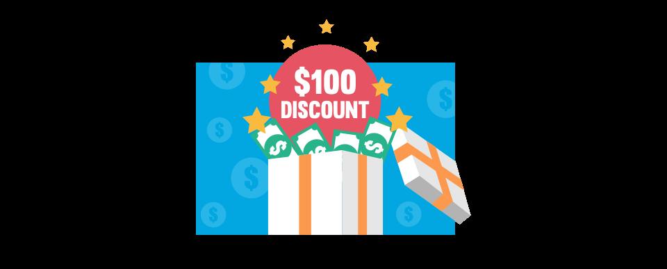 $100 discount on Prestige's annual fee.