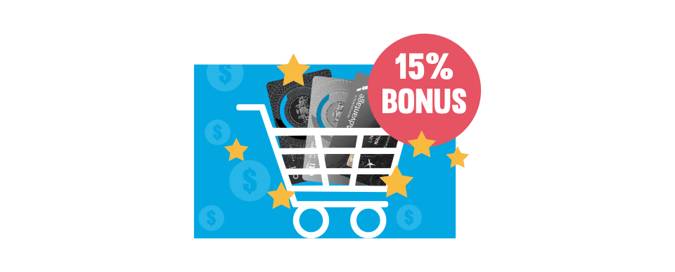 15% bonus ThankYou points.
