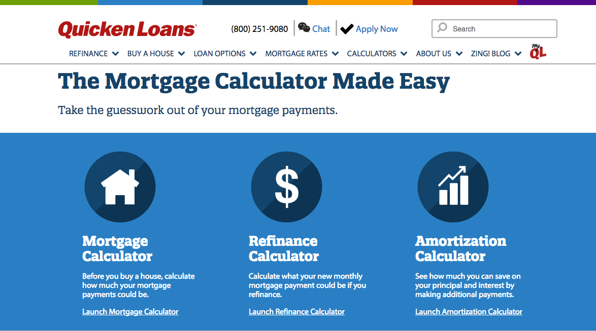 quicken loans the mortgage calculator made easy