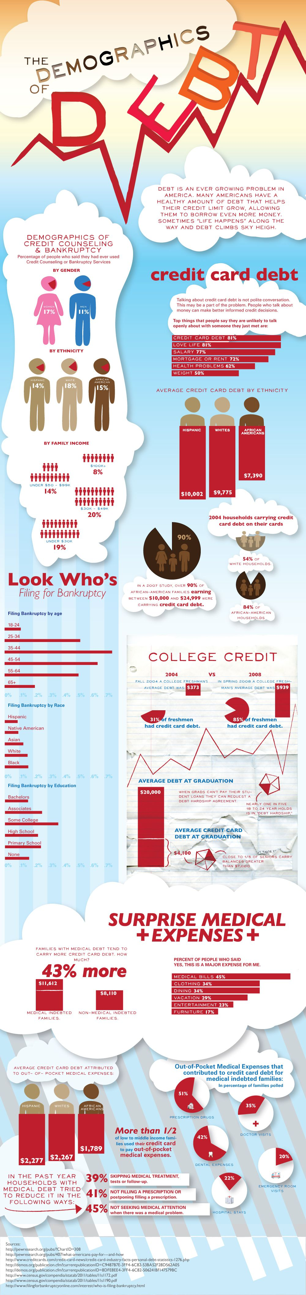 demographics of American Debt