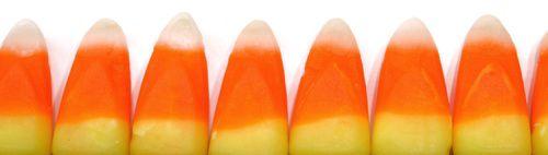 row of candy corn
