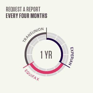Request your credit report every 4 months