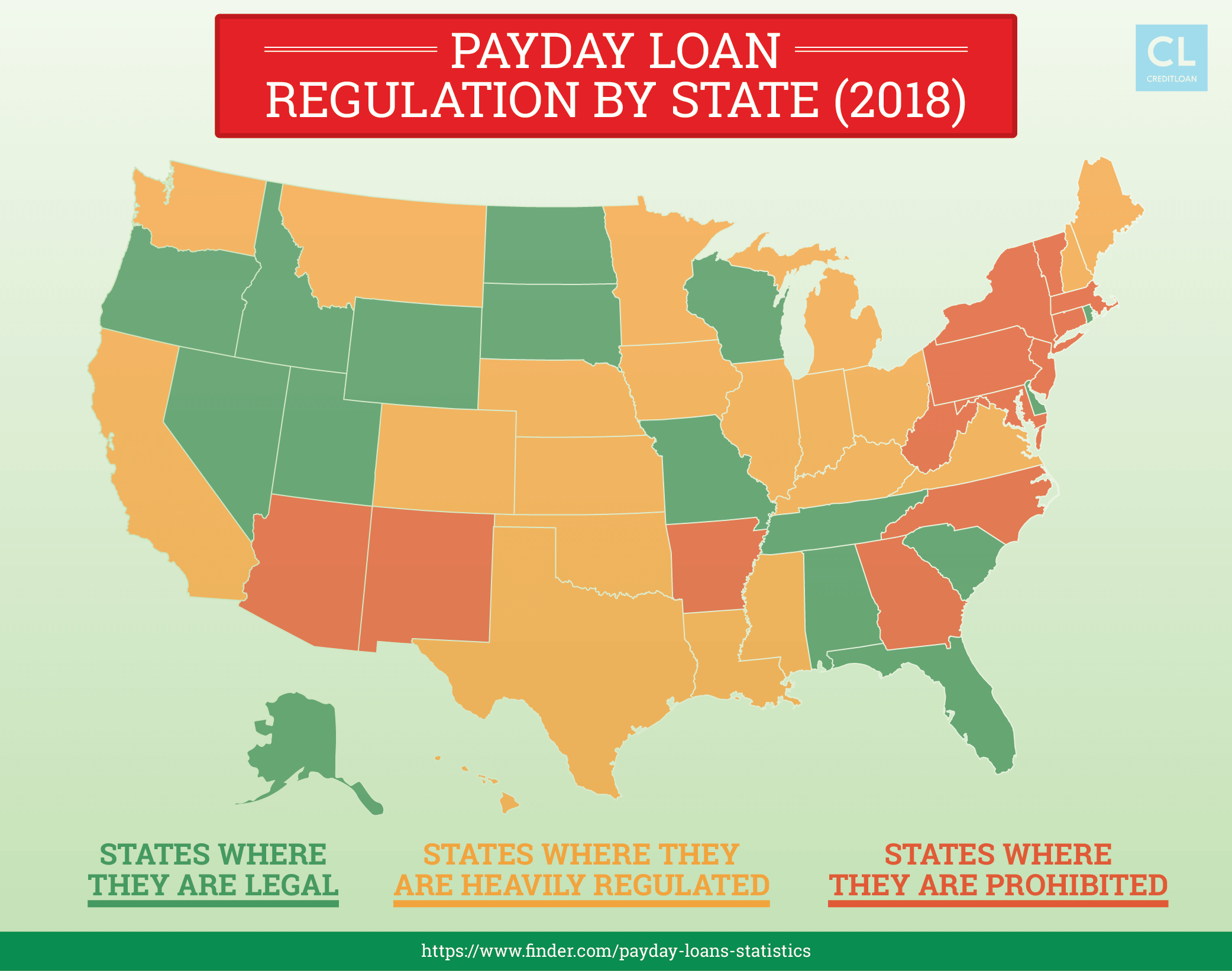 2018 Payday Loan Regulation By State