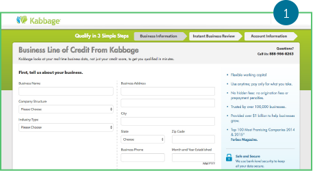 business line of credit from kabbage screenshot