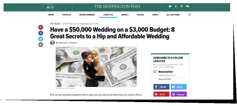 huffington post wedding blog