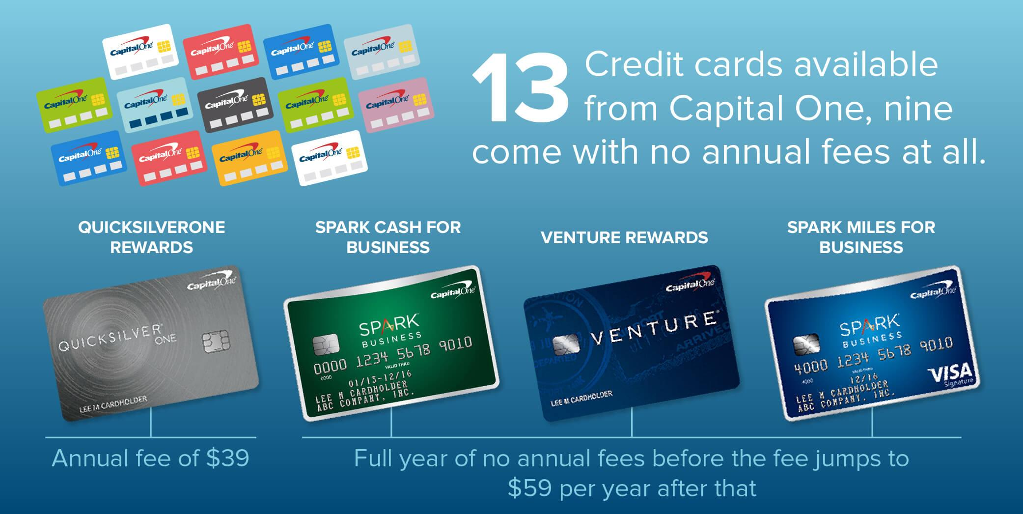 Capital one credit cards annual fees creditloan 4 capital one cards of 13 available colourmoves