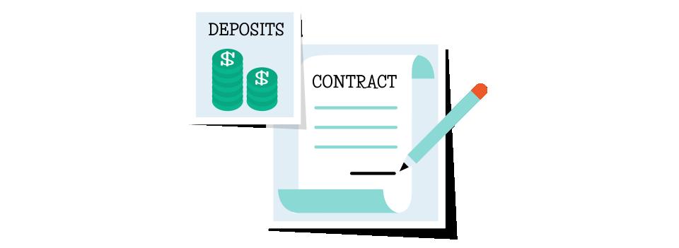 wedding deposit contracts