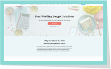 wedding budget calculator
