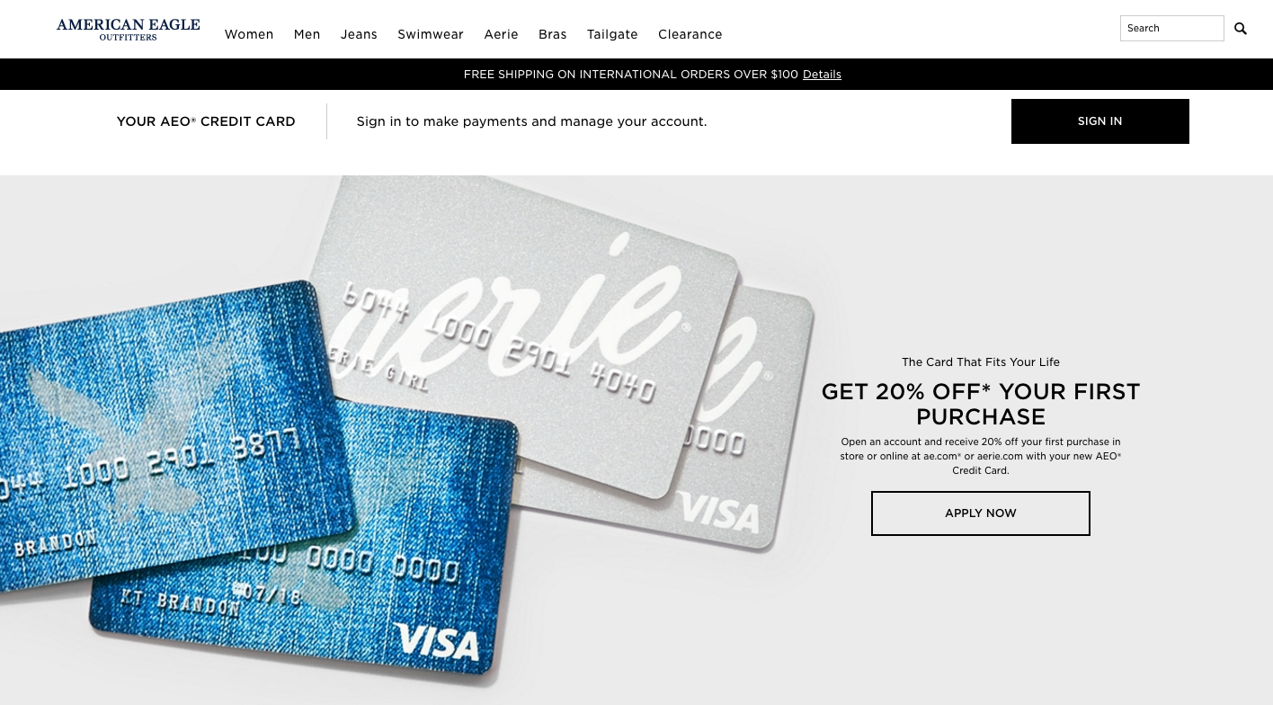american eagle credit card review creditloan com