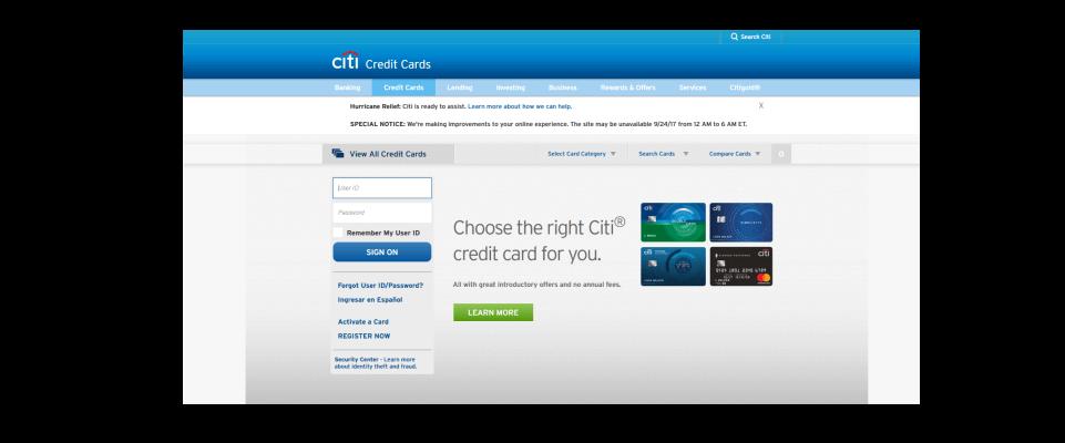 Apply for a Citi Bonus credit card at Citi website