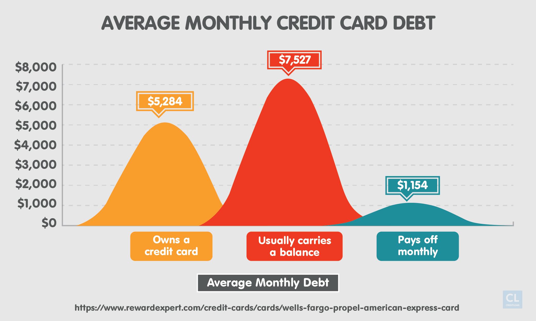Average Monthly Credit Card Debt