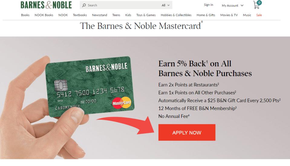 Barnes & Noble Mastercard Website
