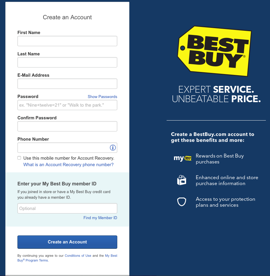 Best buy credit card review creditloan in addition to entering your name phone number and email address to create your account youll need to submit personal information for the actual 1betcityfo Images