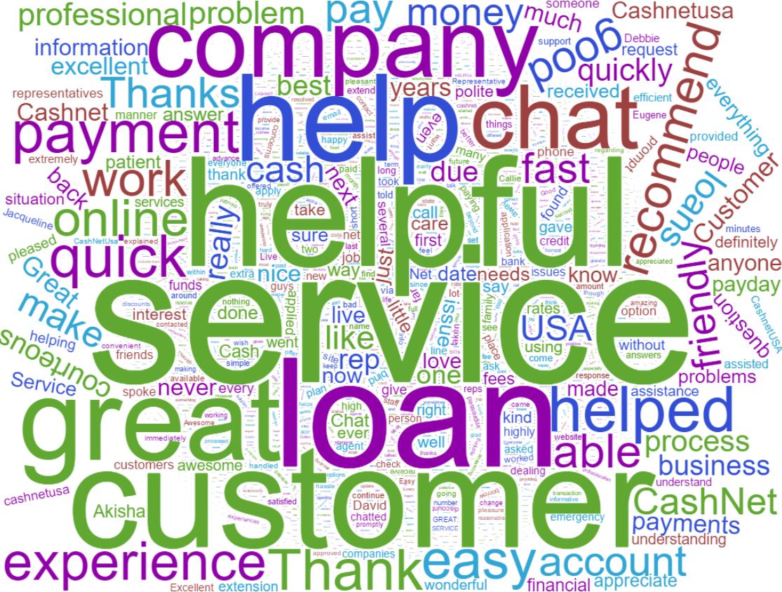 cashnetusa reviews word cloud