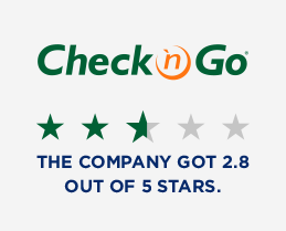 Check n Go 2.8 out of 5 stars