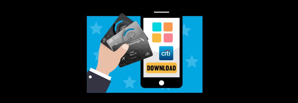 Citi Bonus credit cards' app