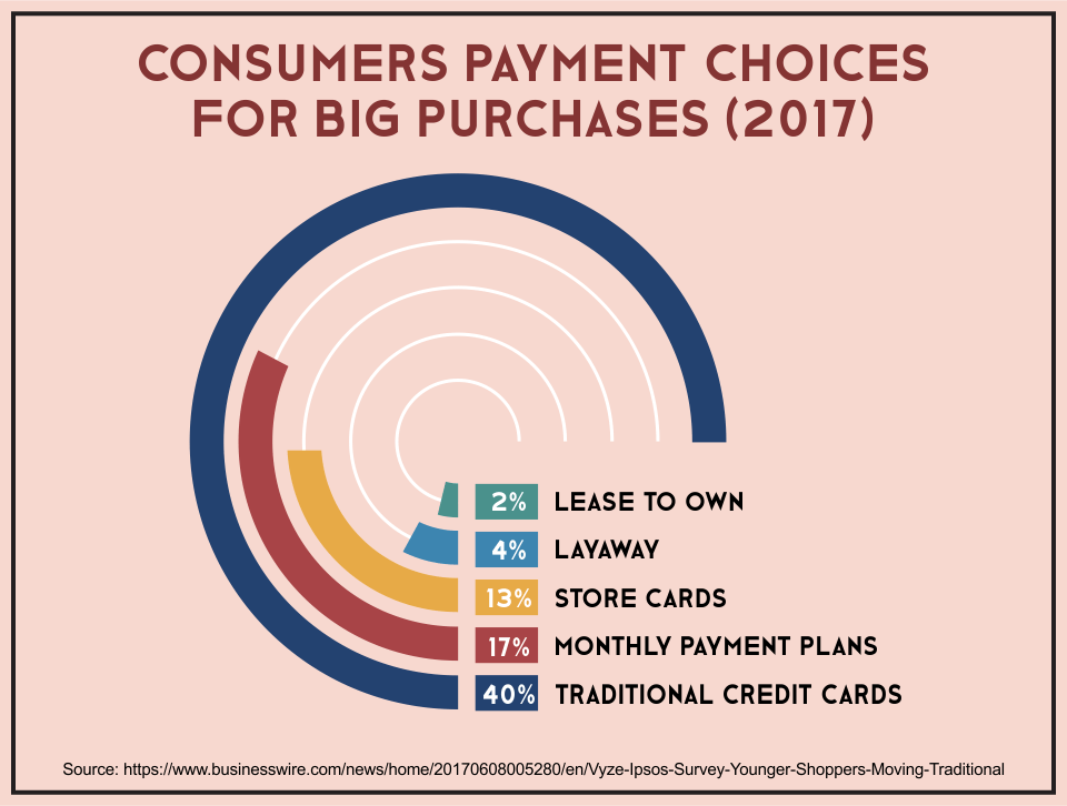 Consumers Payment Choices For Big Purchases (2017)