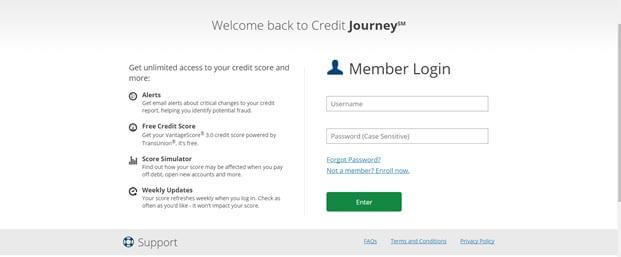 Credit Journey Sign Up