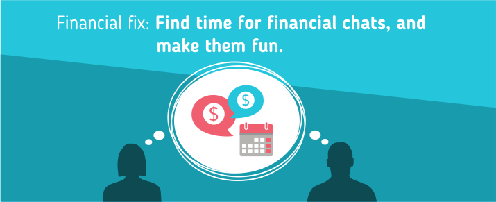 Find time for financial chats