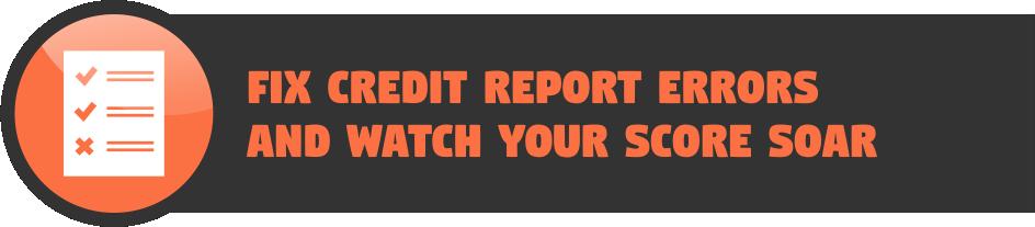 Fix credit report errors