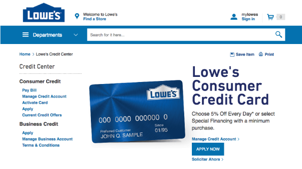 Lowes credit card review creditloan how do you apply for a lowes credit card reheart Images