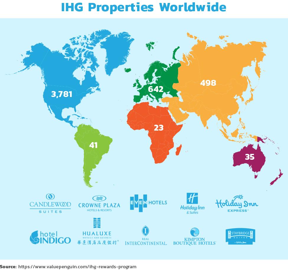 IHG properties worldwide