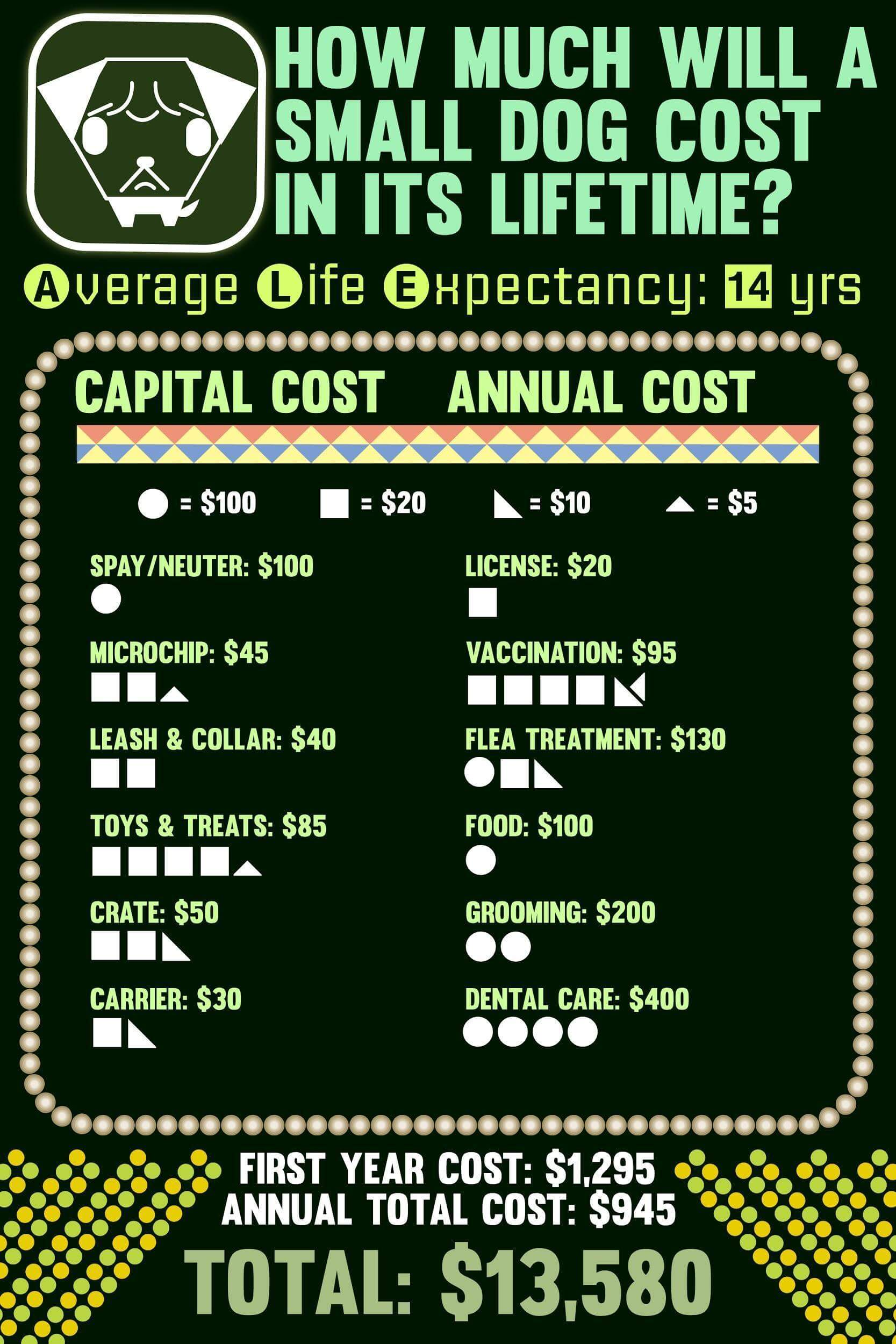 Lifetime cost of small dogs