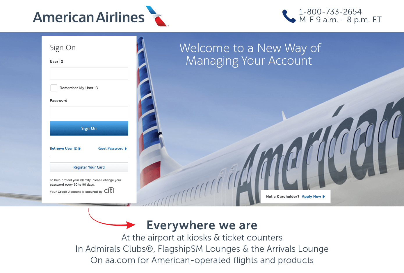 managing your american airlines online account