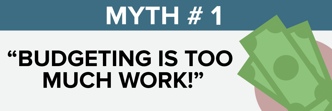 Myth #1 Budgeting is too much work!