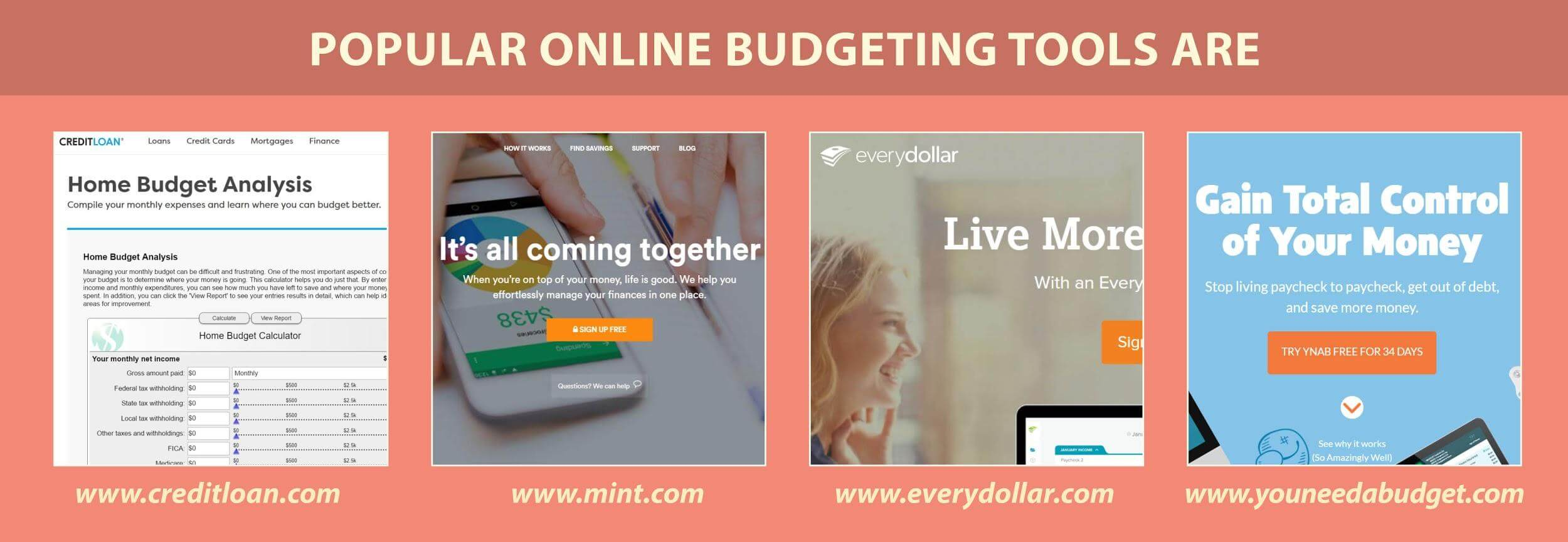 popular online budgeting tools