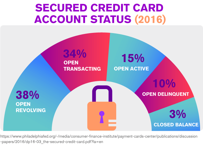 Secured Credit Card Account Status Distribution (2016)