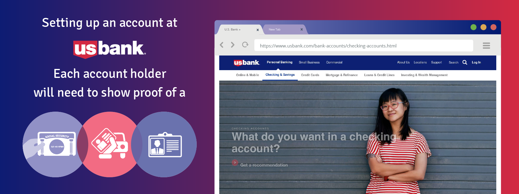 Setting up an account a U.S. Bank