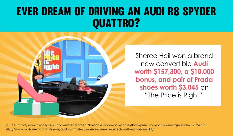 Sheree Heil won a brand new convertible Audi worth $157,300