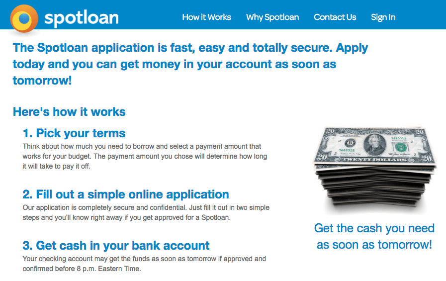 spotloan application process