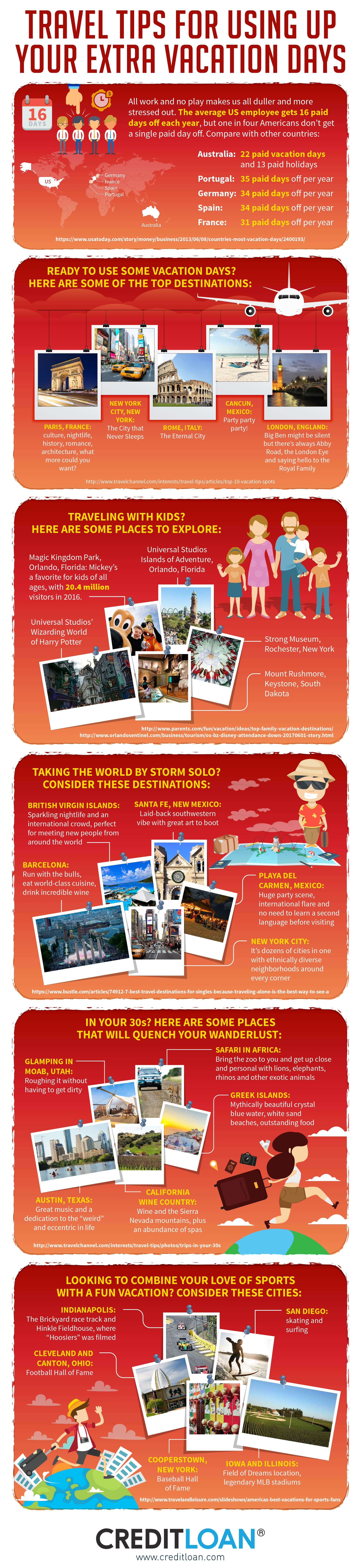 Infographic: Travel Tips to Make the Most out of Your Vacation Days