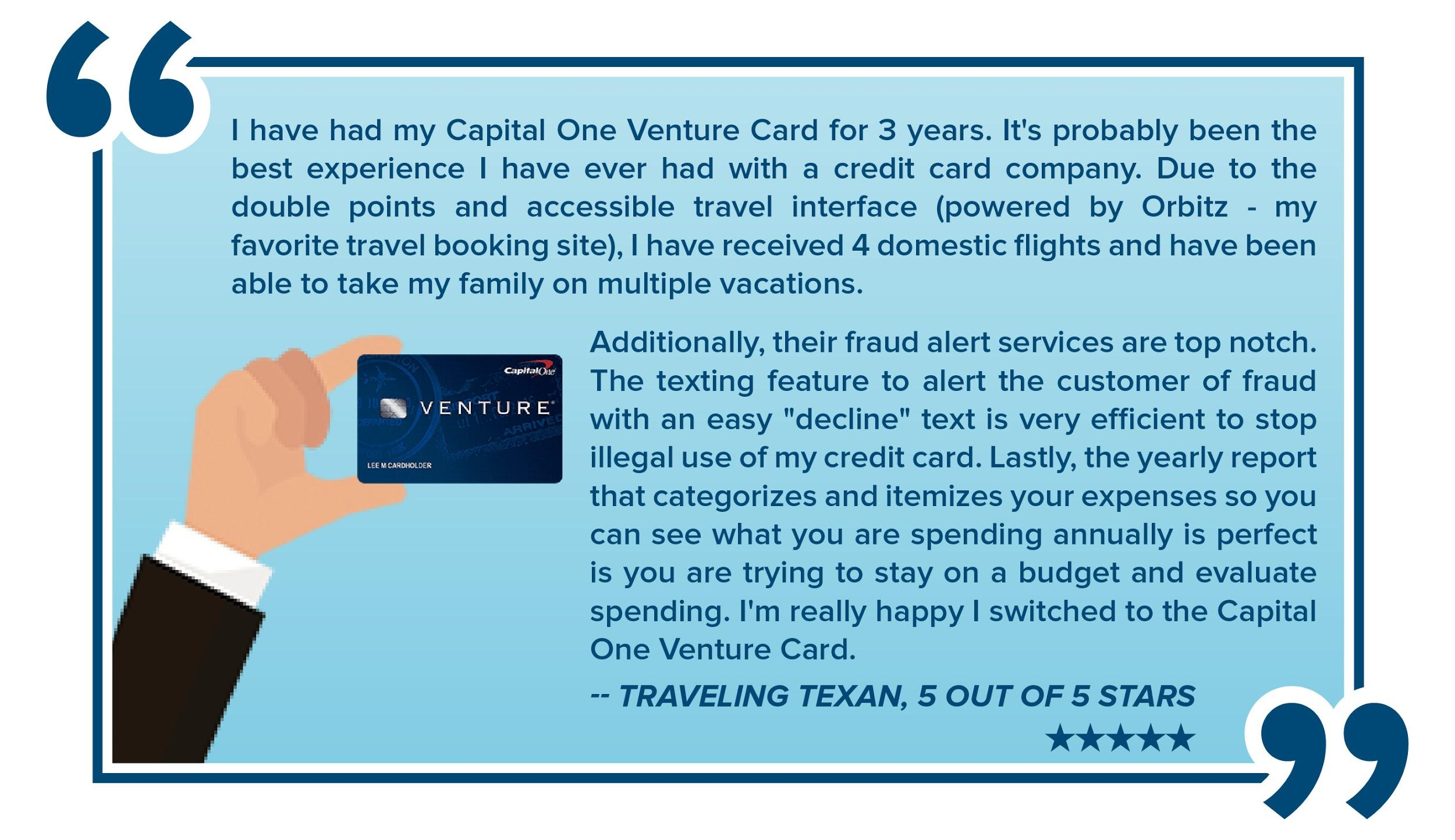 Capital one travel rewards credit cards creditloan venture card testimonial by traveling texan magicingreecefo Images