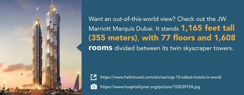 Want an out-of-this-world hotel view?