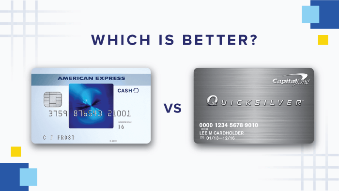 which is better blue cash everyday card from american express vs capital one quicksilver 0